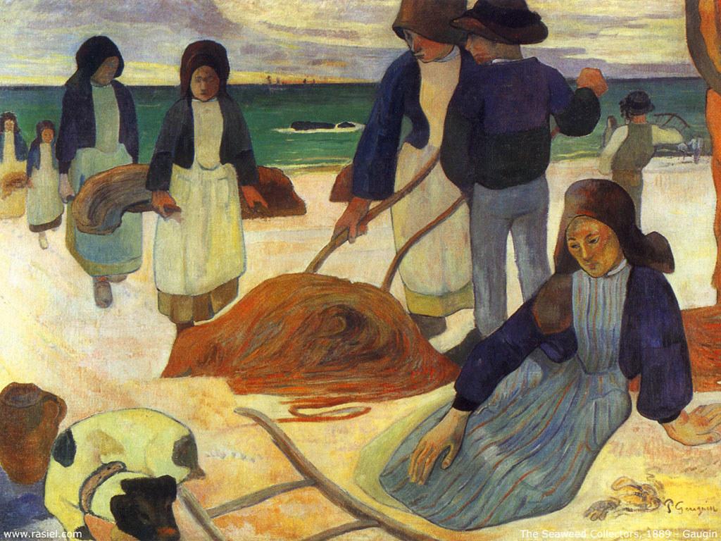 Artistic Wallpaper: Gauguin - The Seaweed Collectors