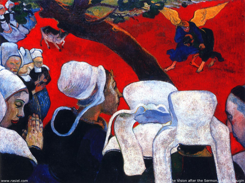 Artistic Wallpaper: Gauguin - The Vision After the Sermon
