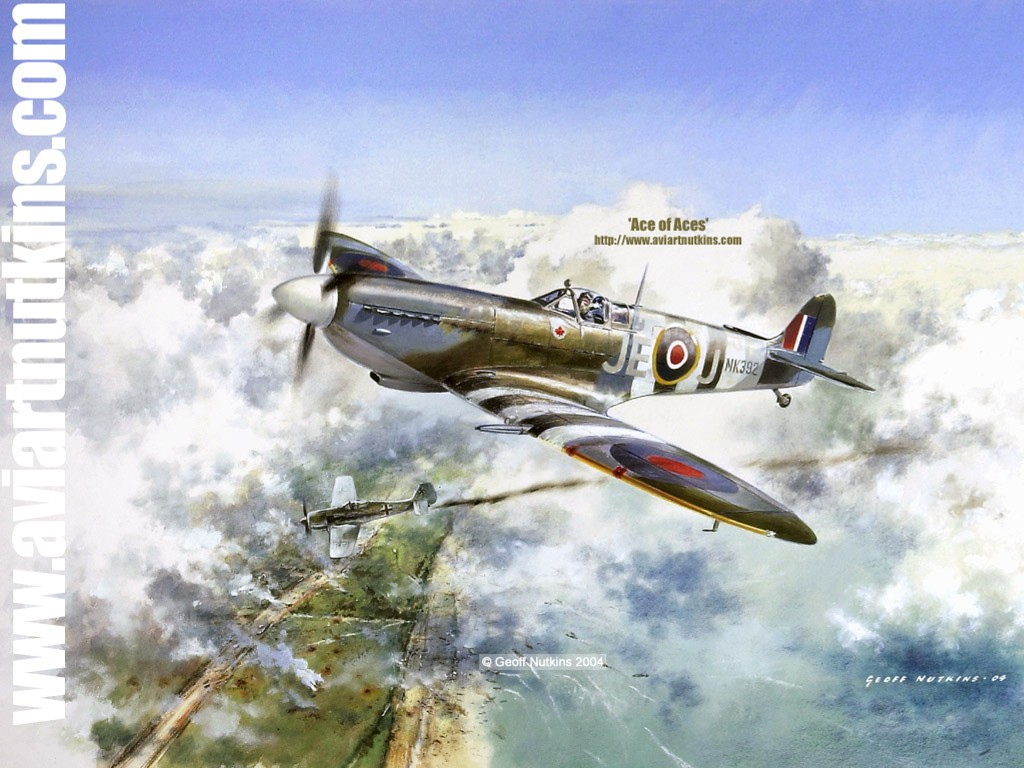 Artistic Wallpaper: Geoff Nutkins - Aviation Art