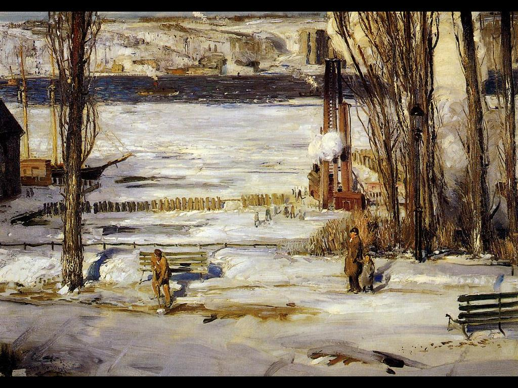Artistic Wallpaper: George Bellows - A Morning Snow