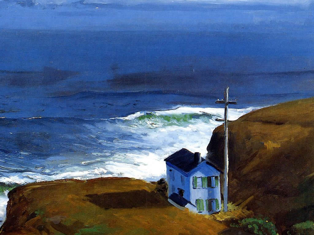 Artistic Wallpaper: George Bellows - Shore House