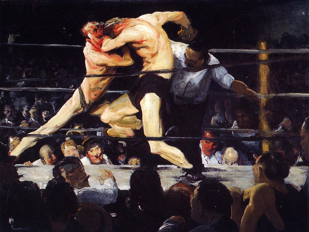 Artistic Wallpaper: George Bellows - Stag at Sharkey's