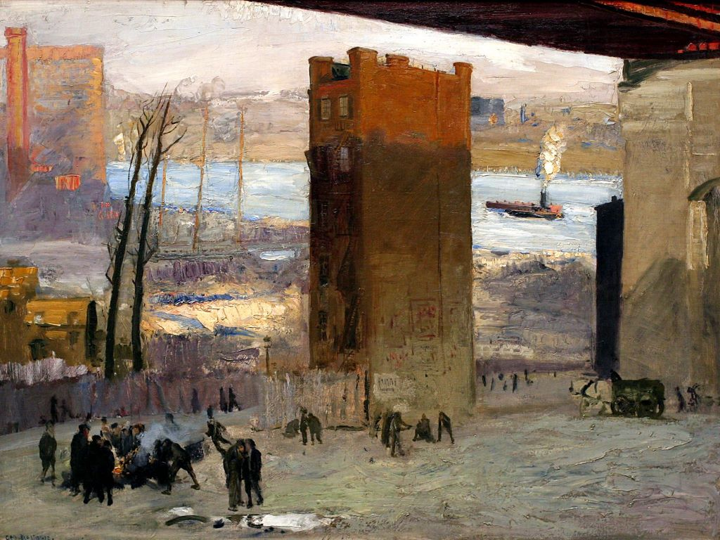 Artistic Wallpaper: George Bellows - The Lone Tenement