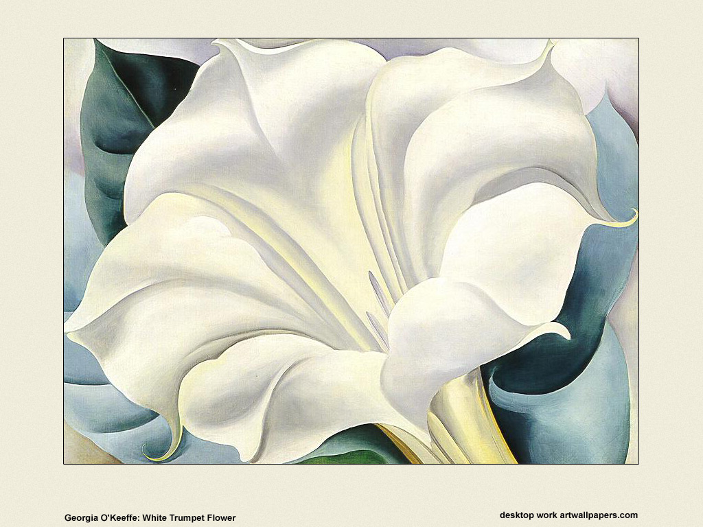 Artistic Wallpaper: Georgia O' Keefe - White Trumpet Flower