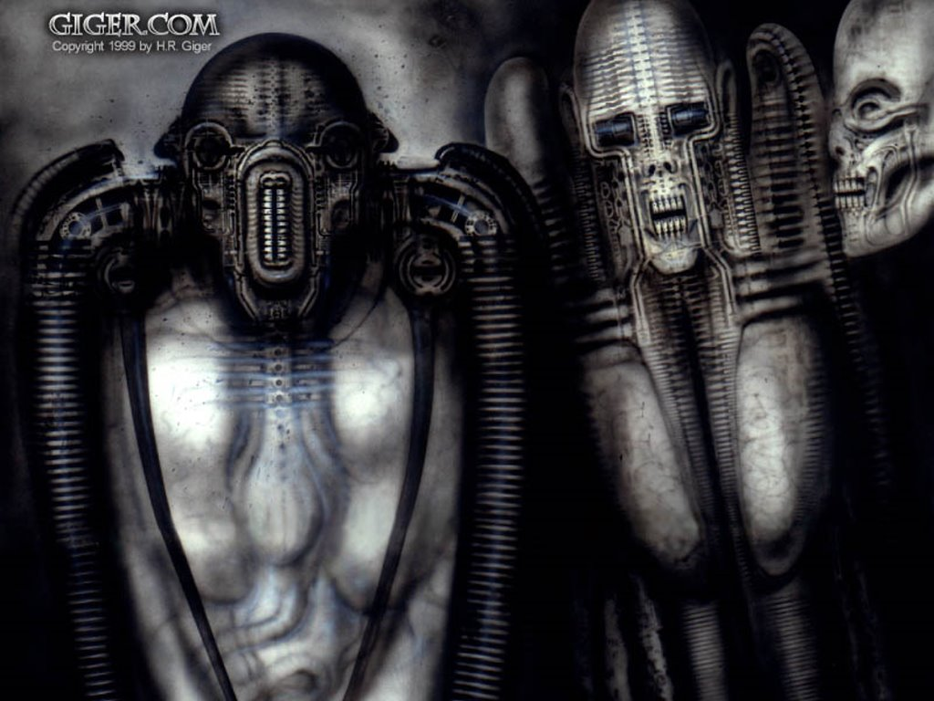 Artistic Wallpaper: Giger - Tourist VII