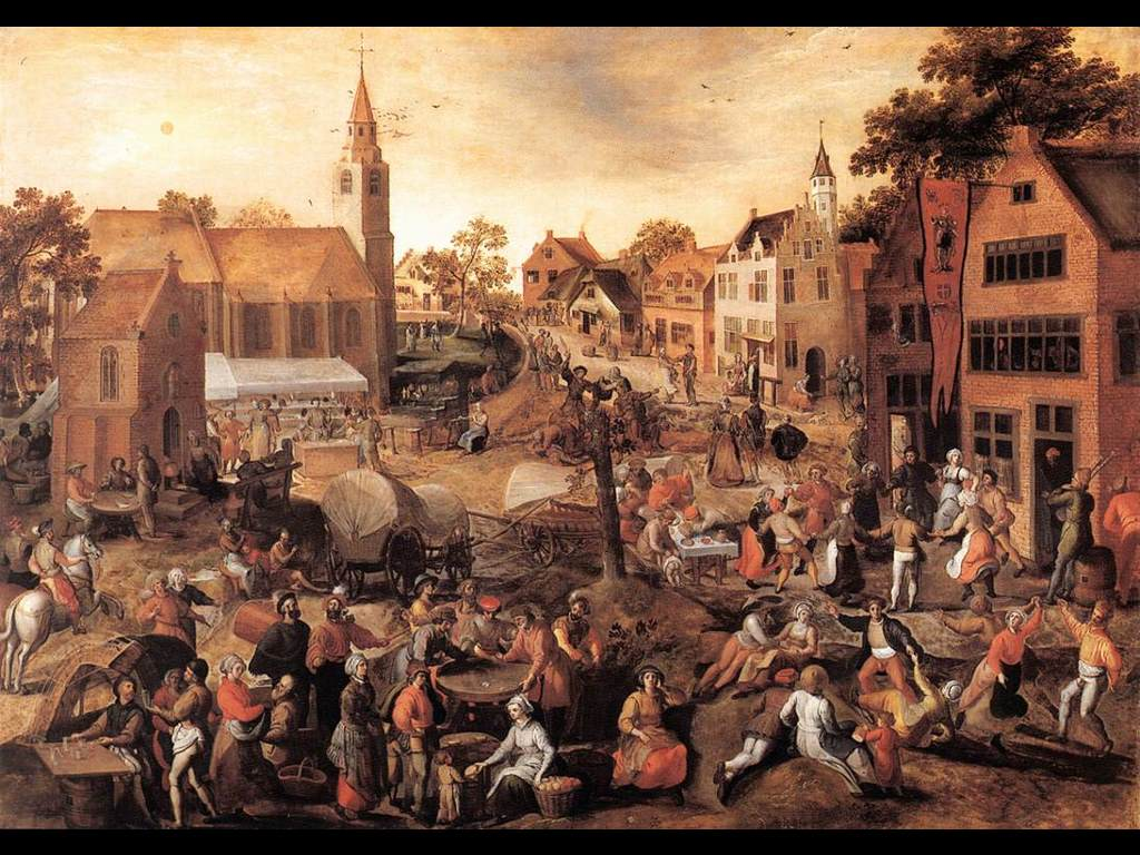 Artistic Wallpaper: Gillis Mostaert - Village Feast