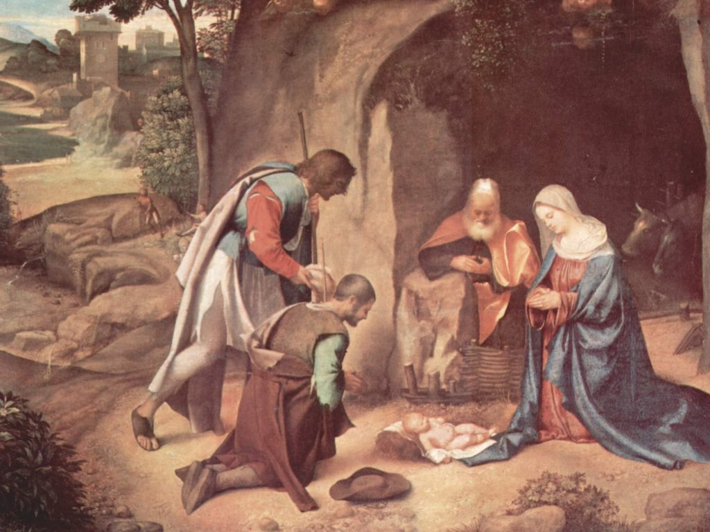 Artistic Wallpaper: Giorgione - Nativity