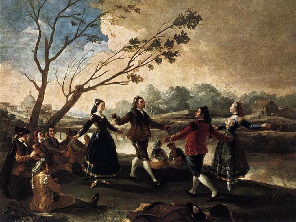 Artistic Wallpaper: Goya - Dance of the Majos at the Banks of Manzanares