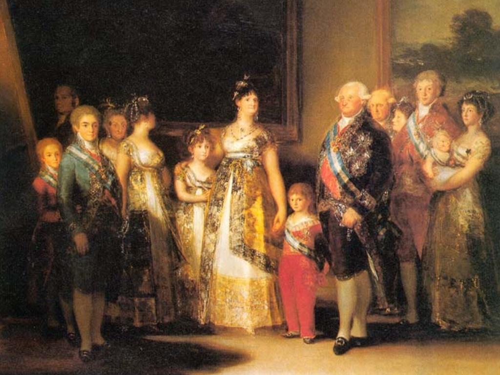 Artistic Wallpaper: Goya - Royal Family