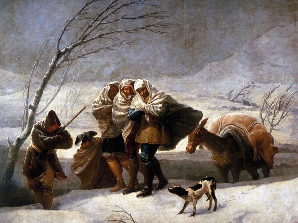 Artistic Wallpaper: Goya - The Snowstorm