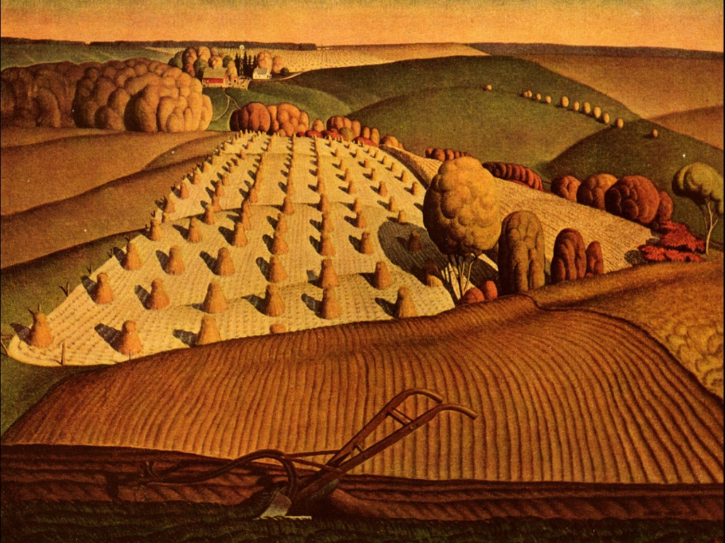 Artistic Wallpaper: Grant Wood - Woodfall