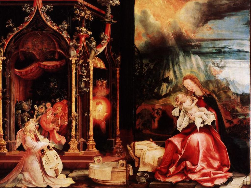 Artistic Wallpaper: Grunewald - Nativity