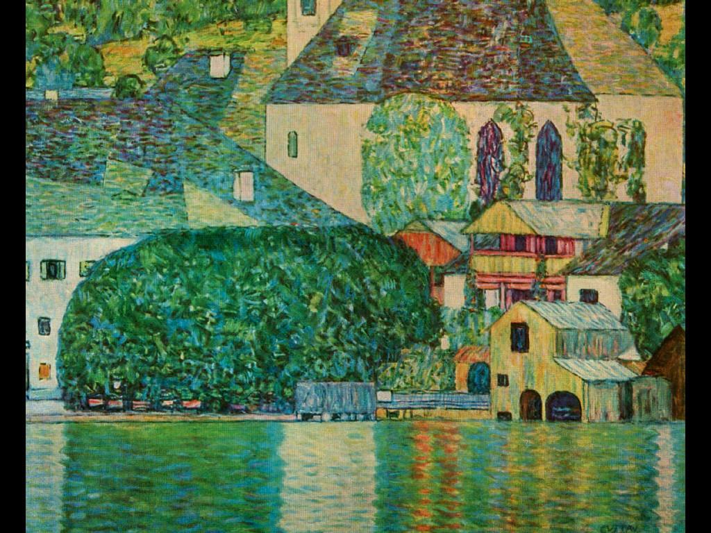 Artistic Wallpaper: Gustav Klimt - The Church of St. Wolfgang