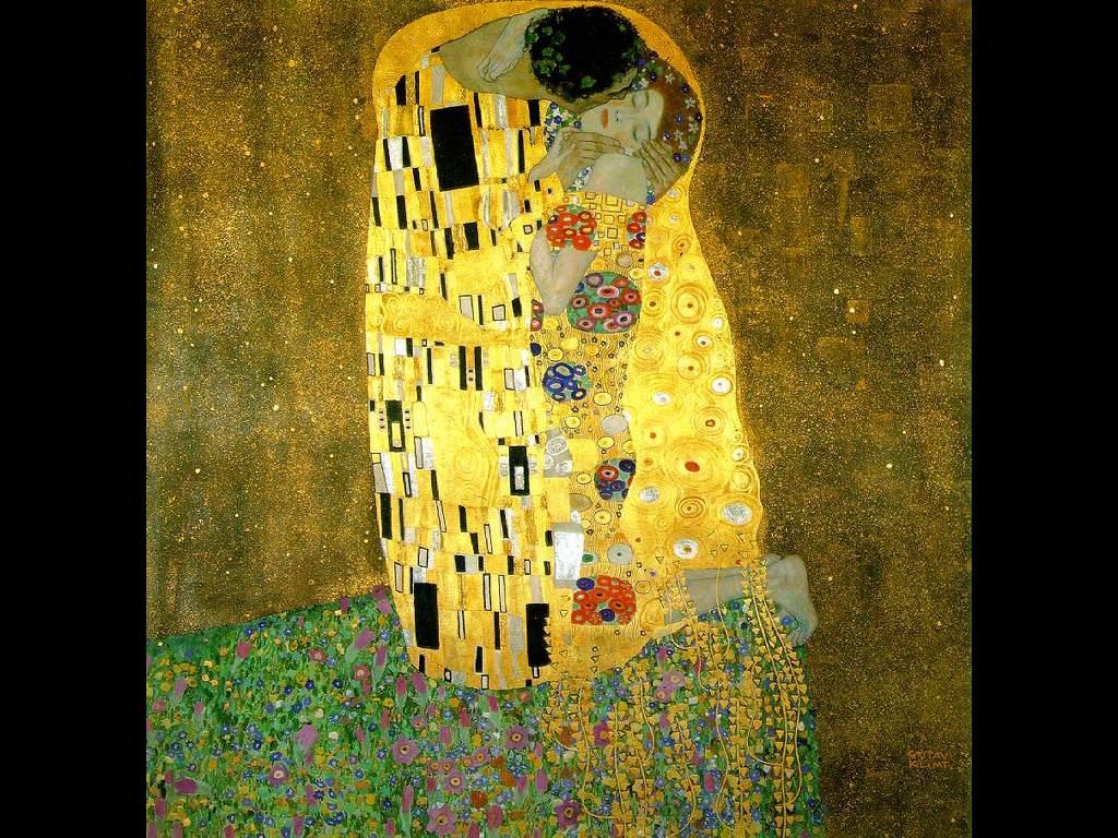 Artistic Wallpaper: Gustav Klimt - The Kiss