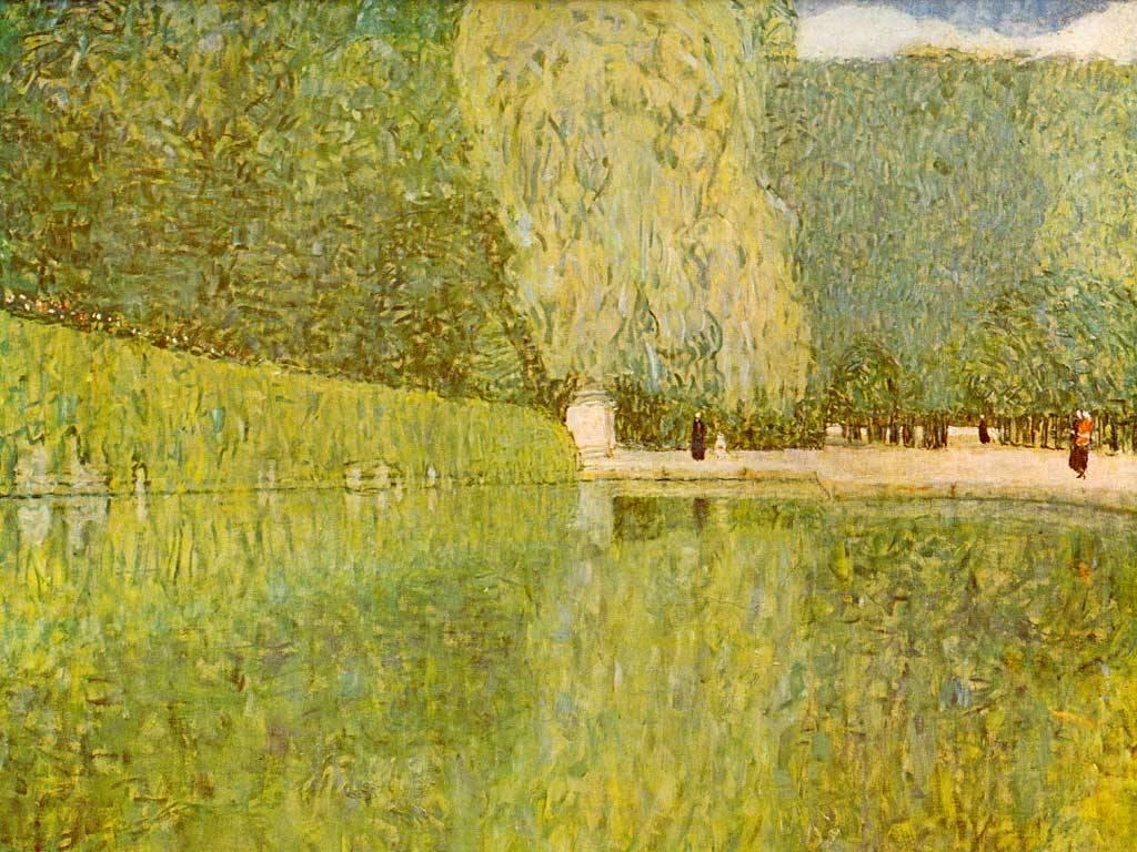 Artistic Wallpaper: Gustave Klimt - Schonbrunn Park