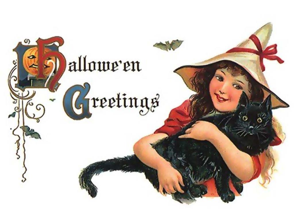 Papel de Parede Gratuito de Artes : Saudações do Halloween