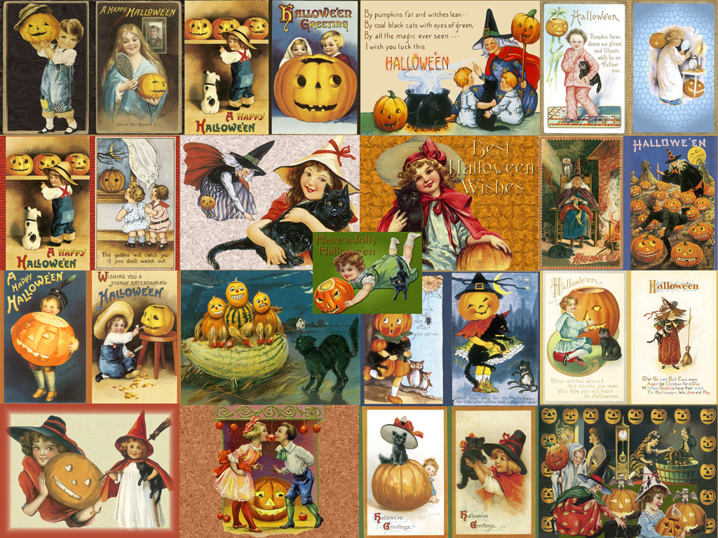 Artistic Wallpaper: Halloween - Vintage Collage