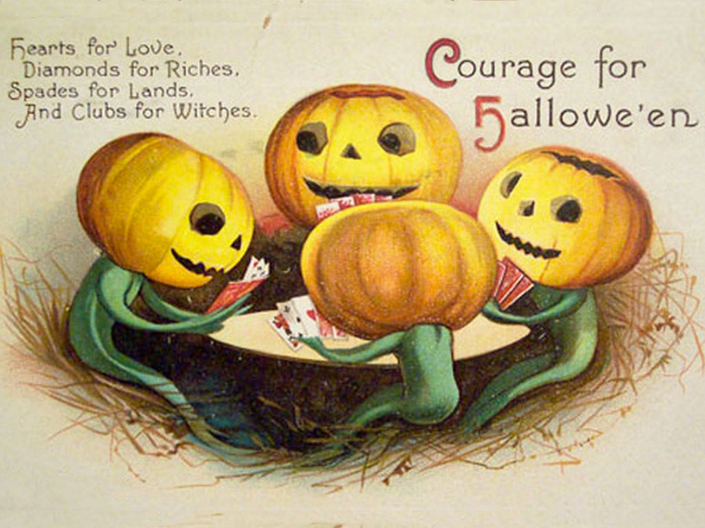 Artistic Wallpaper: Halloween - Vintage Postcard