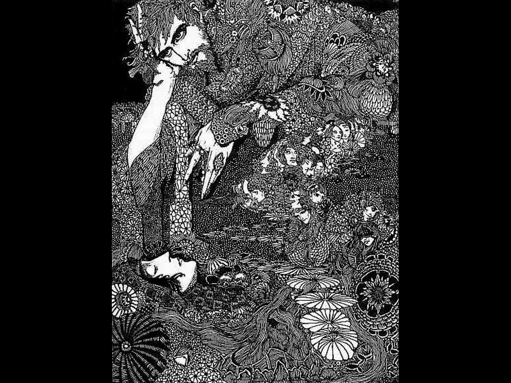 Artistic Wallpaper: Harry Clarke - Morella