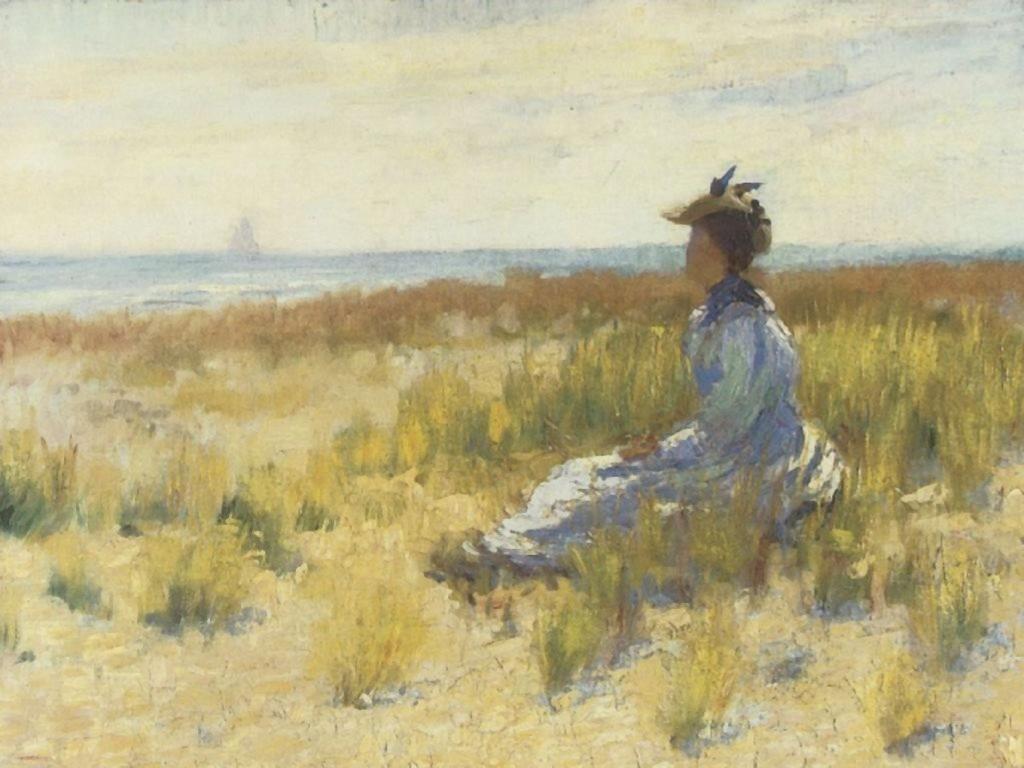 Artistic Wallpaper: Robert Henri - Girl Seated by the Sea
