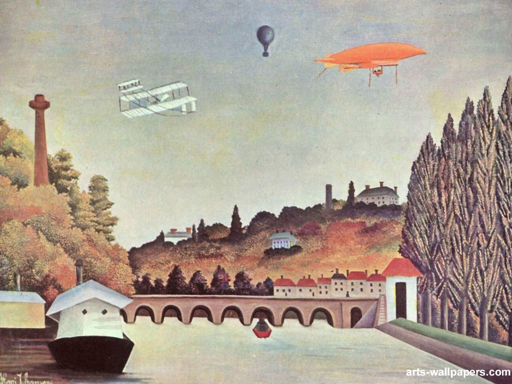 Artistic Wallpaper: Henri Rousseau - Bridge in Sevres