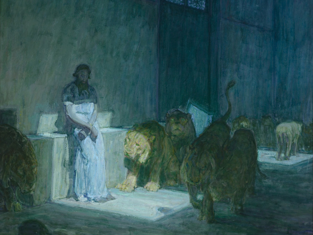 Artistic Wallpaper: Henry Ossawa Tanner - Daniel in the Lions Den