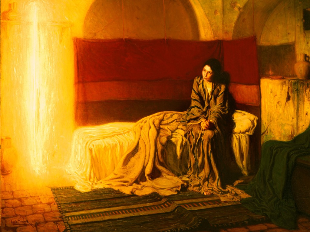 Artistic Wallpaper: Henry Ossawa Tanner - The Annunciation