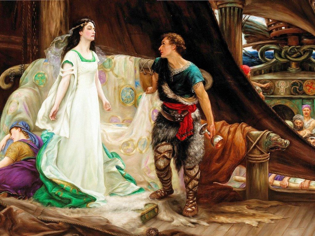 Artistic Wallpaper: Herbert James Draper - Tristan and Isolde