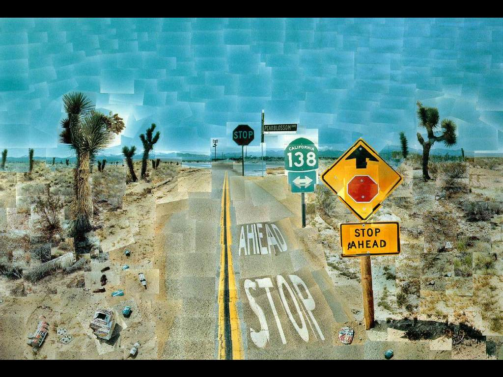Artistic Wallpaper: Hockney - Pearblossom Highway