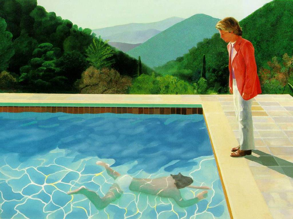 Artistic Wallpaper: Hockney - Portrait of an Artist (Pool with Two Figures)