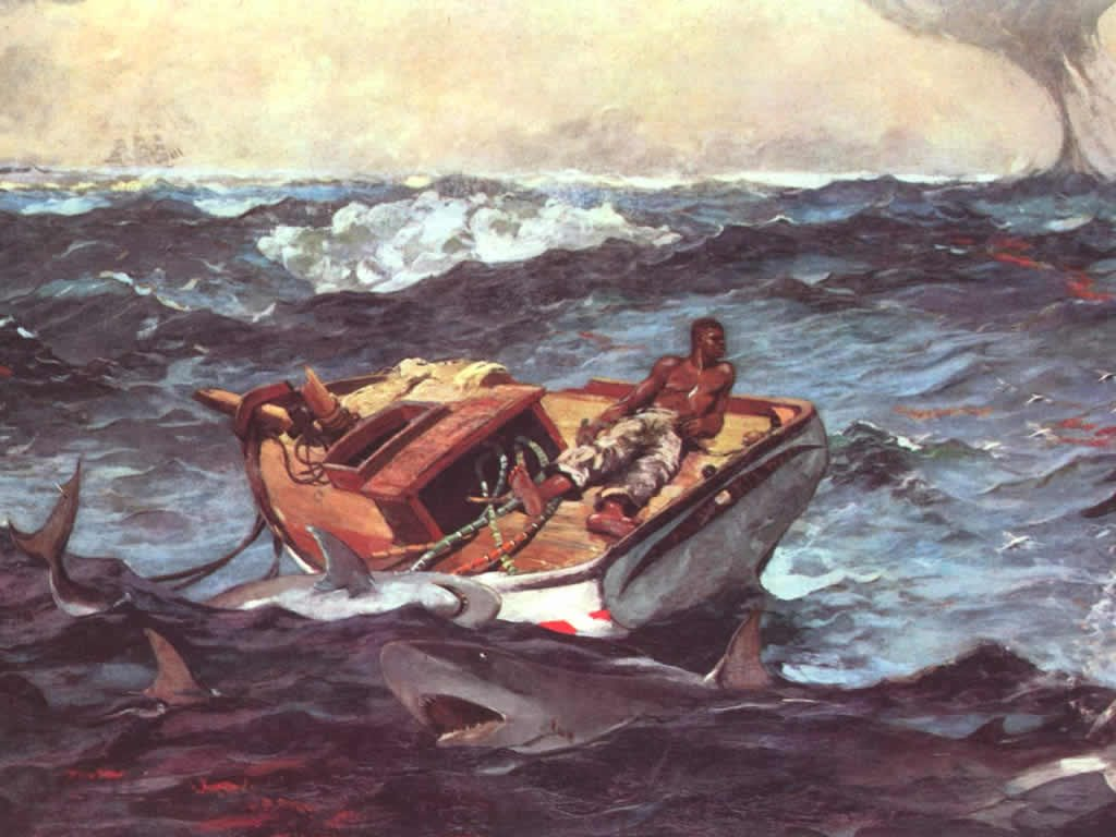 Artistic Wallpaper: Winslow Homer - The Gulf Stream