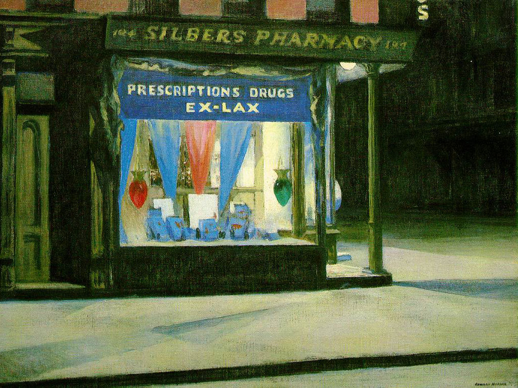 Artistic Wallpaper: Hopper - Drug Store