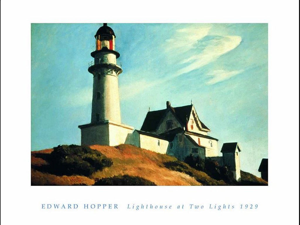 Artistic Wallpaper: Hopper - Lighthouse at Two Lights