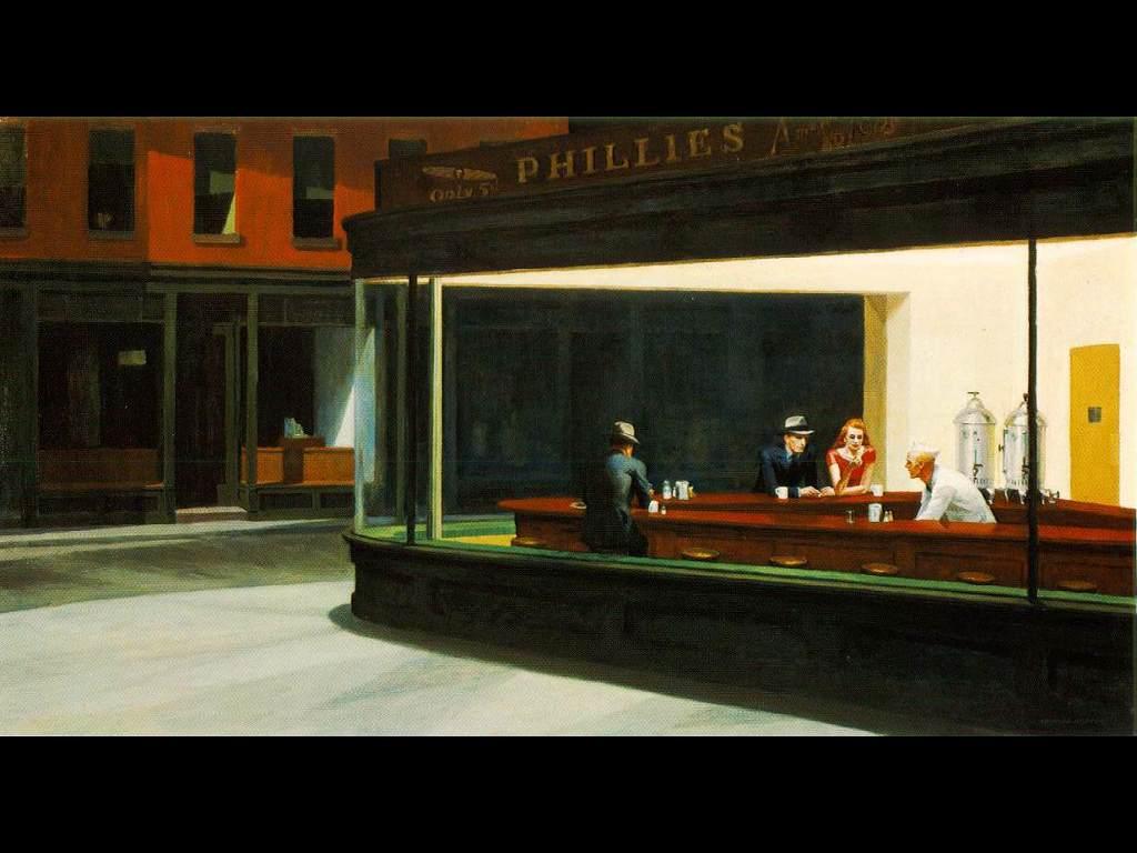 Artistic Wallpaper: Hopper - Nighthawks