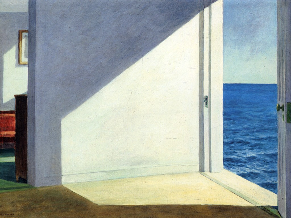 Artistic Wallpaper: Hopper - Rooms by the Sea