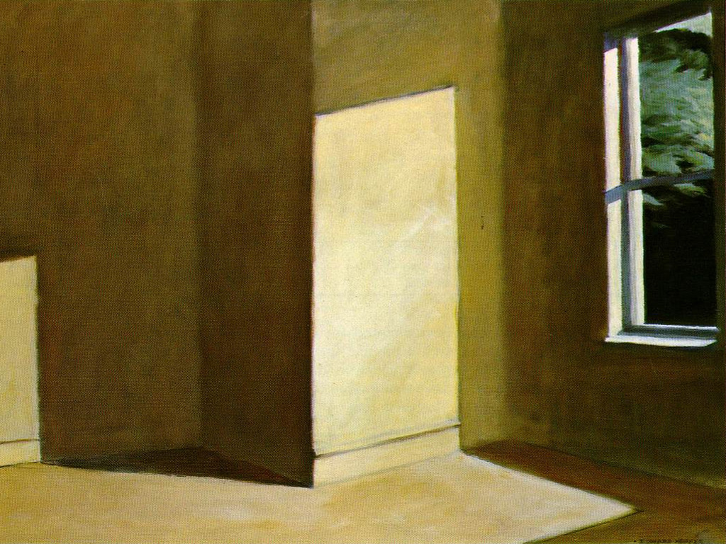 Artistic Wallpaper: Hopper - Sun in a Empty Room