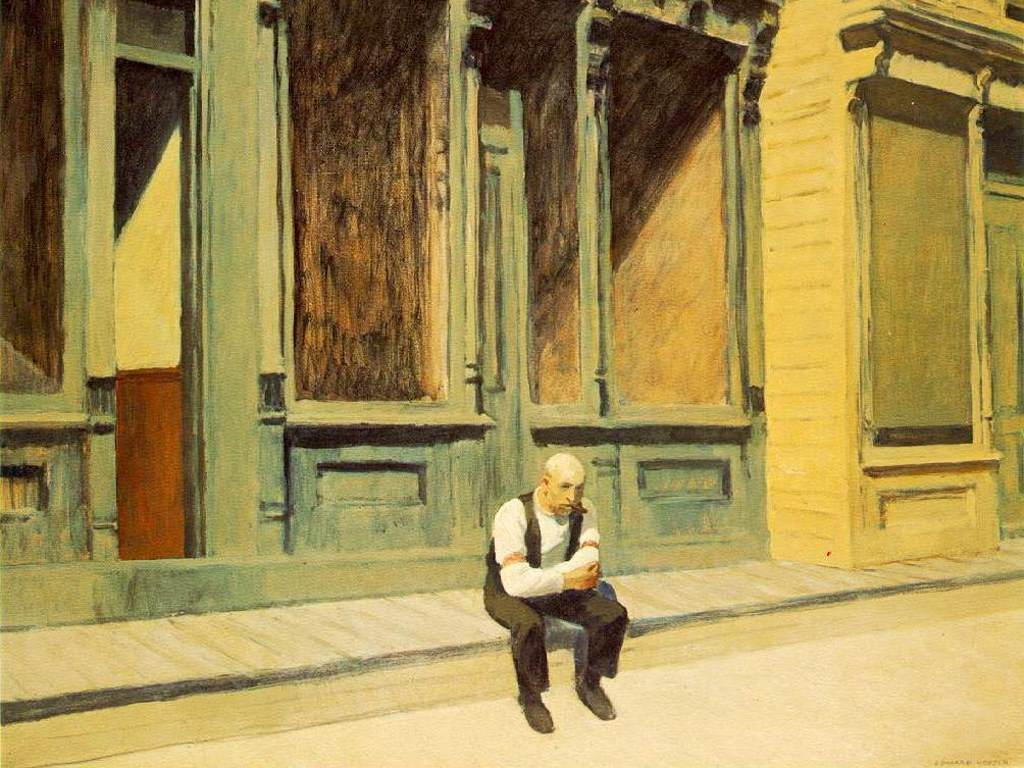 Artistic Wallpaper: Hopper - Sunday