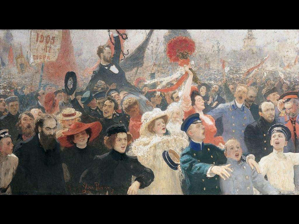 Artistic Wallpaper: Ilya Repin - Manifesto of October 17th