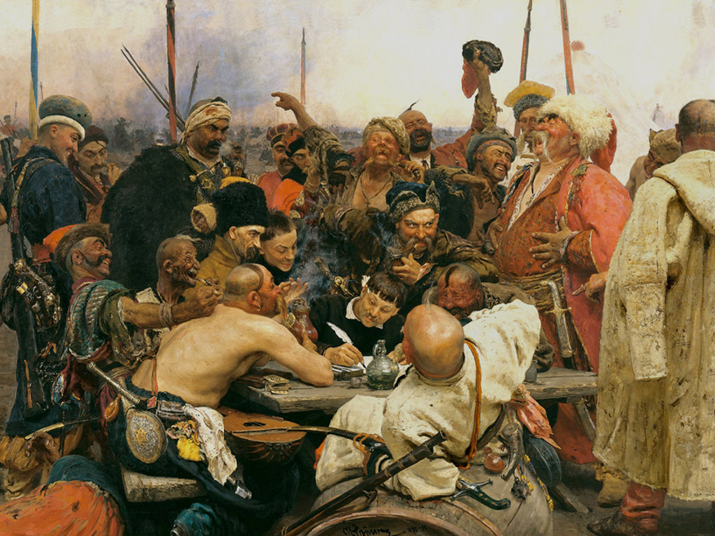 Artistic Wallpaper: Ilya Repin - The Reply of the Zaporozhian Cossacks