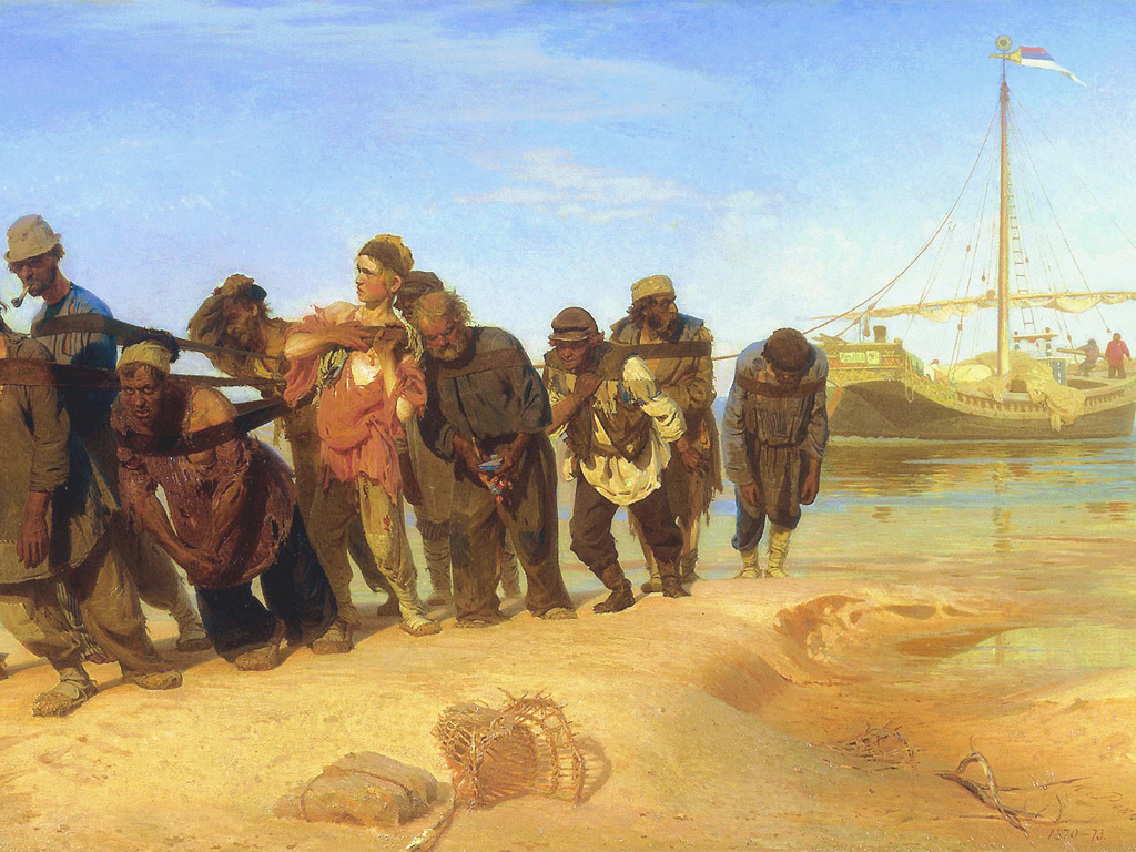 Artistic Wallpaper: Ilya Repin - Volga Barge Haulers