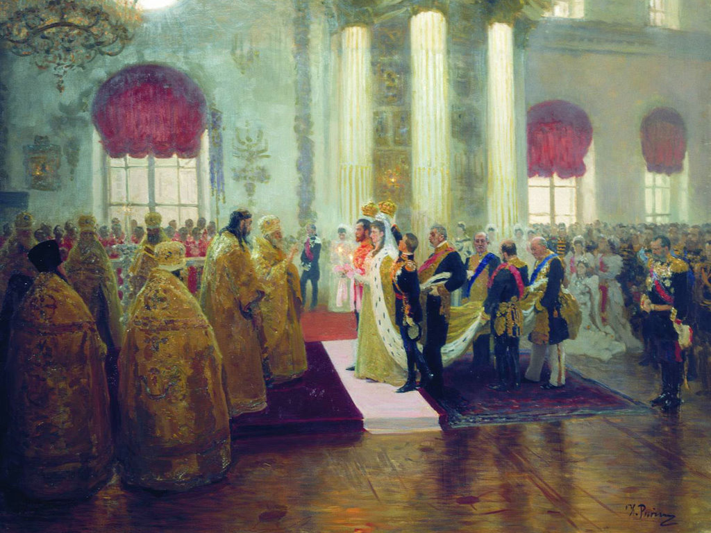 Artistic Wallpaper: Ilya Repin - Wedding of Nicholas II and Grand Duchess