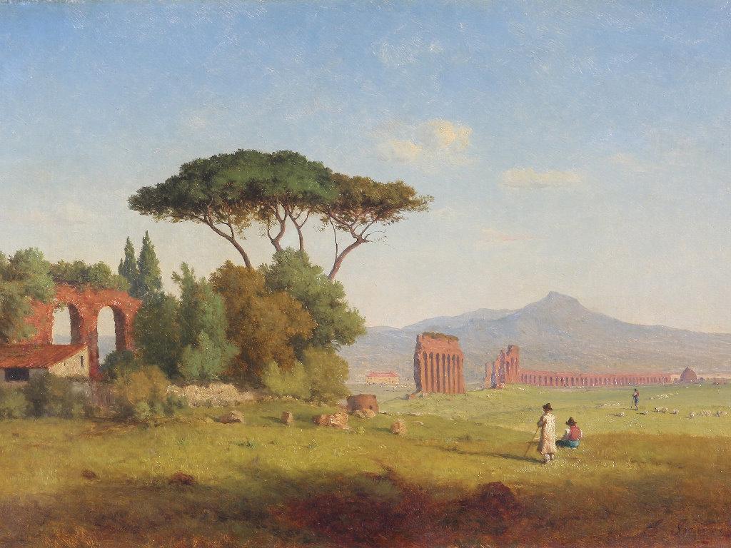 Artistic Wallpaper: Inness - Roman Campagna