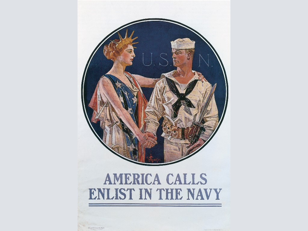 Artistic Wallpaper: J.C. Leyendecker - Enlist