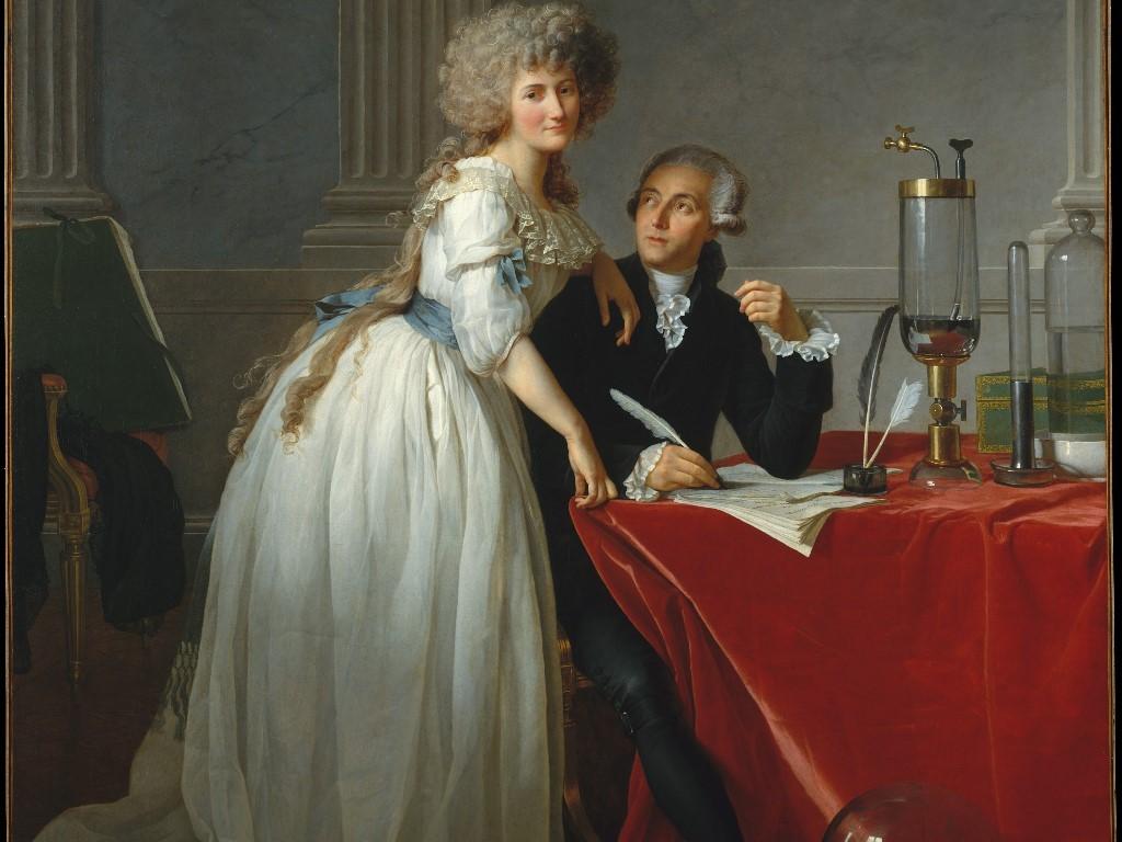 Artistic Wallpaper: Jacques Louis David - Portrait of Monsieur Lavoisier and His Wife