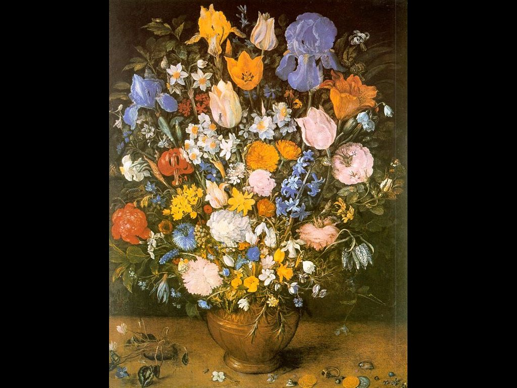 Artistic Wallpaper: Jan Brueghel The Elder - Bouquet Of Flowers In A Clay Vase