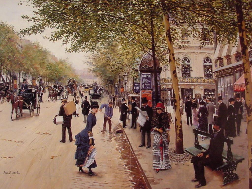 Artistic Wallpaper: Jean Béraud - Boulevard des Capucines