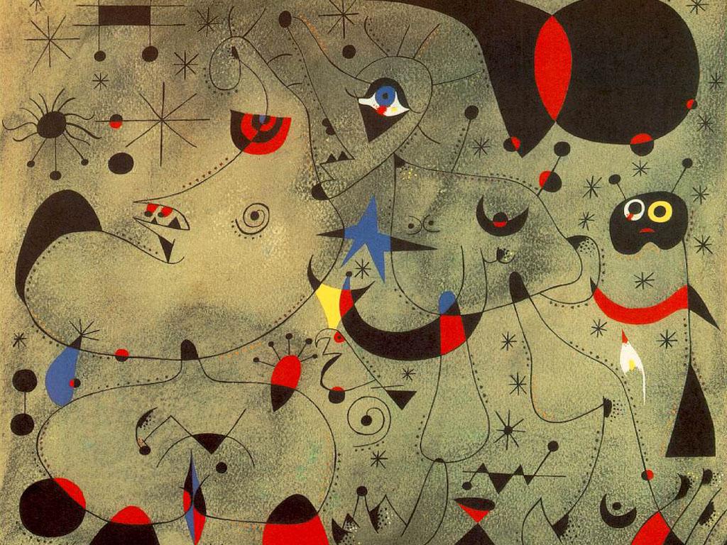Artistic Wallpaper: Joan Miro - Nocturne