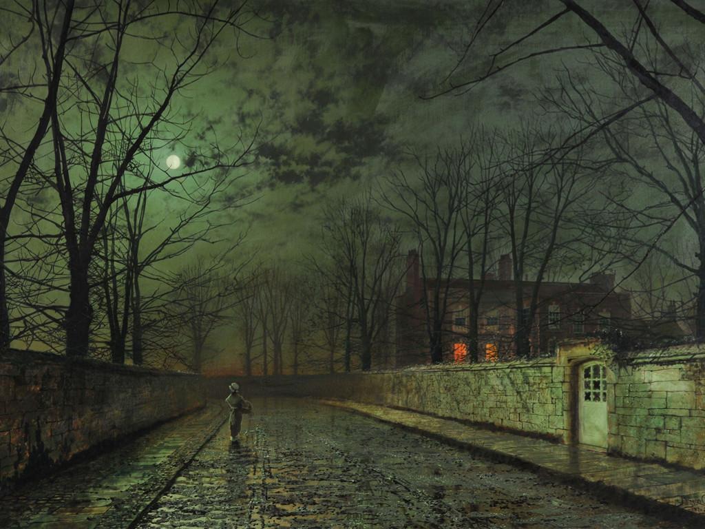 Artistic Wallpaper: John Atkinson Grimshaw - Alley