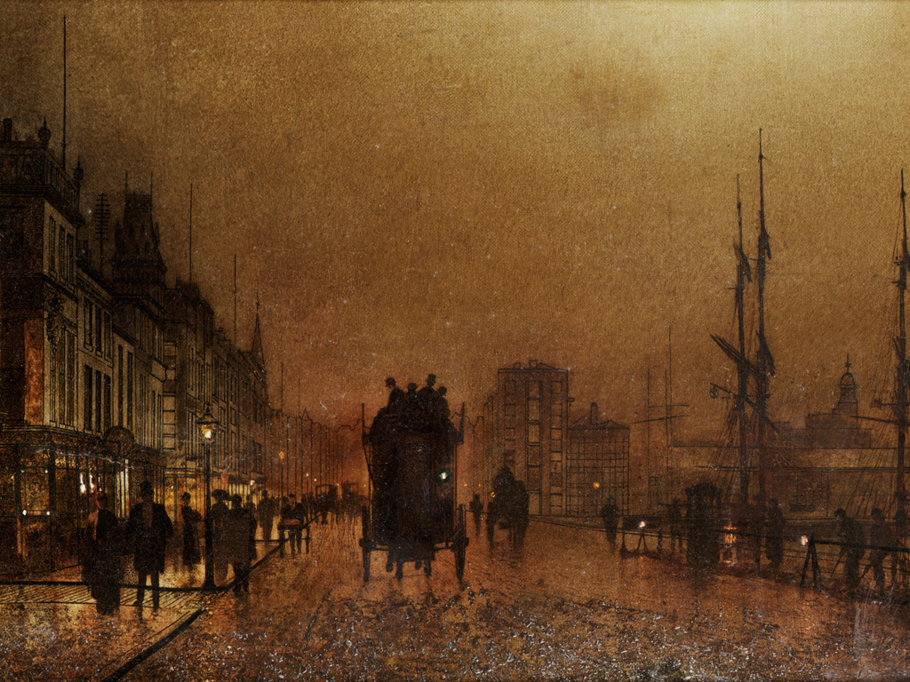 Artistic Wallpaper: John Atkinson Grimshaw - The Broomielaw Glasgow