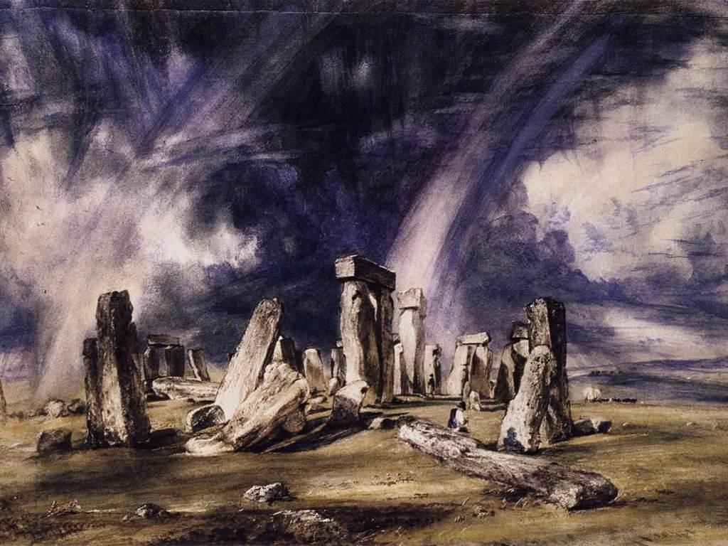 Artistic Wallpaper: John Constable - Stonehenge